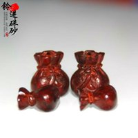 Wholesale India Lobular Red Sandalwood - India lobular red sandalwood carving natural pocketbook small pendant bracelet accessories DIY beads material exquisite accessories
