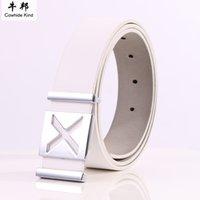 Wholesale Black Leather Belt Brass - Mens Belts Luxury Genuine Leather Belt Designer Men Belts Luxury Brand Smooth Buckle Belts for Men's Cowhide Leather Belt Brass Buckle