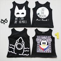 Wholesale Tank Tops Wholesales - Baby Tops Children Vest Boys Girls Summer T Shirts Boys Tank 2016 Cartoon Printed Toddler Tees T-Shirt Clothing Vest