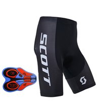 Wholesale Mens Cycling Pants Pads - 2017 summer mens SCOTT Team Cycling (bib) shorts pant ropa ciclismo Fast Drying Breathable 9D gel pad Bike sStrap sports shorts A310