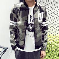 Wholesale Army Style Jackets - New 2018 fashion military style camouflage jacket men casual thin bomber jacket veste homme men's clothing plus size m-5xl