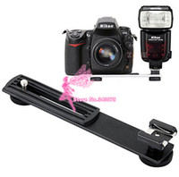 Купить Флеш-камера Dslr-Flashgun Flash Hot Shoe DC Camera Arms Bracket Stand Mount для Canon для Nikon DSLR Photo Studio Accessories