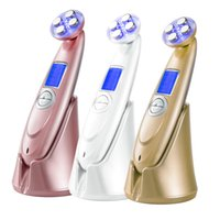 Wholesale Rf For Face Skin - TM-RF002 RF EMS Photorejevenation Led therapy face beauty machine for face lift and wrinkle and fine line removel skin care home use