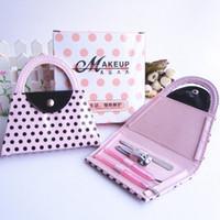 ingrosso sacchetti di chiodo del sacchetto-Manicure Kit Rosa Beauty Handbag Modellismo Borse per unghie Pinzette Clipper Ear Pick Care Set Gruppo nuziale Regali popolari 3 8ab F R