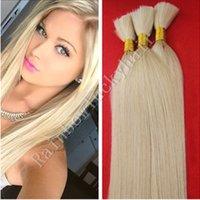 Wholesale Double Drawn Hair Bulk - 8A Double Drawn Indian Blond Straight Human Hair Bulks No Atttachment 100% Human hair #613 Bulk Hair 300g lot Free shipping