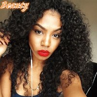 Wholesale Hair Wigs China - 7A Cheap Wigs China Kinky Curly Full Lace Wig Brazilian Glueless Human Hair Wigs Curly Lace Front Wig For Black People Online