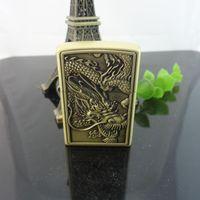 isqueiros de cobre venda por atacado-Original China dragão Flint Isqueiro Clássico Isqueiros De Cobre Mais Leve