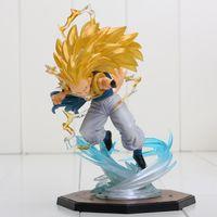 ücretsiz dragon ball z figürler toptan satış-16cm Dragon Ball Z rakam Super Saiyan Gotenks PVC Action Figure Koleksiyon Modeli oyuncak ücretsiz nakliye