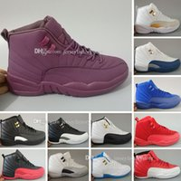 Wholesale rubber dynamics - Wholesale Cheap New 12 cherry 12s taxi university blue CNY GS gamma french blue wool nylon black dynamic pink shoes for women men