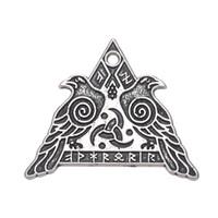 Wholesale Wholesale Men S Pendants - Wicca Series Pendant Valknut Odin 's Ravens Charms For Neckalces Bracelets Earrings for Man and Woman