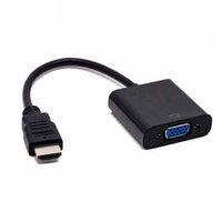 Wholesale Hdmi Cord Converter - NEW HDMI Male to VGA Female Video Cable Cord Converter Adapter 1080P for PC Wholesale