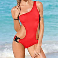 Wholesale Wholesale Designer Beachwear - Wholesale- 2016 New Designer Women One Piece Swimwear Swinsuit Beachwear Sexy Monokini Plus Size One Piece Bathing Suit Trikini