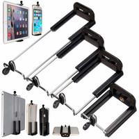 qualidade do clipe do iphone venda por atacado-Atacado-New Chegou a qualidade superior varas Selfie Screw Clip Suporte de montagem para câmera Tripé para iPhone para iPad 8 polegadas Tablet 4 tipos