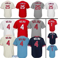 Wholesale men dexter - #4 Yadier Molina #25 Dexter Fowler Jersey #1 Ozzie Smith Jerseys 100% Stitched Fast Free Shipping High-quality Baseball Jresey