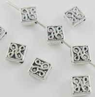 Wholesale Tibetan Square Spacer Beads - Free Shipping 1000Pcs Tibetan Silver Square Spacer Beads For Jewelry Making Bracelet 2x5mm