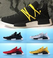 Wholesale Elastic Running - 2017 Pharrell Williams NMD HUMAN RACE In Yellow red black blue grey green white men women Classic Sport sneakers running Shoes eur 36-45