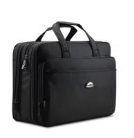 Wholesale Function Briefcases - 17 inch Men's Laptop Bag Briefcase Luxury Brand Men's Handbags Casual Multi-Function Big Travel Bag