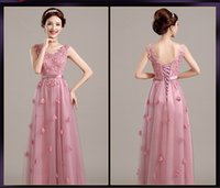 Wholesale Cocktail Party Gown Wholesale - 2016 New Arrival Women Long Formal Party Dress Ladies Casual Prom Wedding Bridesmaid Gowns Girls Floor Length Celebrity Dresses