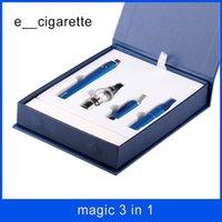 sihirli buharlaştırıcı kalem toptan satış-Sihirli 3 1 elektronik sigaralar Balmumu buharlaştırıcı Önce MT3 Cam Küre atomizer EVOD pil buharlaştırıcı kalem ile ücretsiz kargo