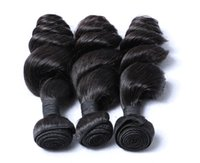 Wholesale Saving Machine Free Shipping - Save 25% Malaysian Hair Extension 100g Piece Malaysian Hair Bundles Loose Wave Natural Black Color Dyeable Wet Brush Free Shipping