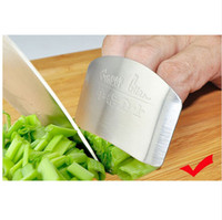 Wholesale hand guard protector finger resale online - Personalized Design Stainless Steel Finger Hand Guard Finger Protector Knife Slice Chop Safe Slice Cooking Tools