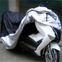 Wholesale Waterproof Covers For Bicycles - All Season Black Waterproof Sun Motorcycle Cover for Bike Bicycle Motrocycle Waterproof High Grade 180T polyester taffeta Cover Wholesale