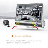 """2021 New 4.0"""" Car DVR Camera car cameras Dual Lens with Rear view Registrar three camera Night vision car dvrs Video dashcam Camcorder"""