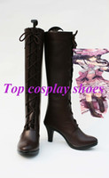 Wholesale Ciel Shoes - Wholesale-Freeshipping custom-made anime Black Butler Kuroshitsuji Ciel Cosplay Shoes Boots Custom made female ver. for party show