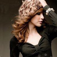 Wholesale Angora Women - New Fashion Ladies Rabbit Fur Angora Leopard Beret Hat Women Beanie Hat Cap Autumn and Winter Hats Female free shipping 77