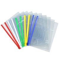 Wholesale Wholesale Document Folders - 20pcs set stationery A4 A5 A6 high quality PVC transparent edge bags file bag Office & School Supplies For Invoice Paper Data