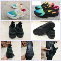 Wholesale Rainbow Shipping - 2017 New Huarache Running Shoes Huaraches Rainbow Ultra Breathe Shoes Men & Women Huaraches Multicolor Sneakers Size 36-46 Free Shipping