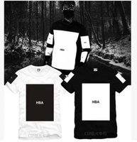 Wholesale Hba Hood Air Women - 2016 Men And Women Lovers Hood By Air HBA Will Block European Edison Chan Hip Hop Pure Cotton Short Sleeve