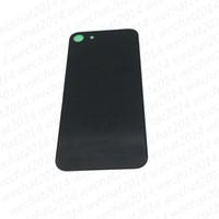 iphone back housing оптовых-Заднее стекло полный корпус задняя крышка батарейного отсека с клеем для iPhone 8 Plus X Free DHL