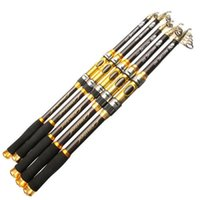 Wholesale Carbon Sea Rod - Brown 2.1M 2.4M 2.7M 3.0M 3.6M Telescopic Fishing Rod Spinning Fish Hand Tackle Sea Carbon Fiber Pole Portable