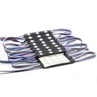 ingrosso rgb shell-Eyoumy 5050 3LED RGB rotondo nero Shell iniezione LED IP67 impermeabile modulo principale pubblicità DC12V 1.5W con lente 110-130LM