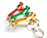 Wholesale Party Keyrings - New Laser Engraving Aluminum Alloy Mini Mickey Shaped Bottle Opener Opener Keyring Party Wedding Gift G134