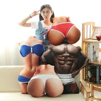 Wholesale Sexy Butt Toys - Creative Sexy Body Pillow Plush Toy cushion Sexy Girl's Butt Pillows Funny Valentine Christmas Gifts