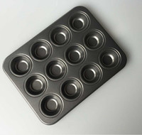 Wholesale mini baking cups - 12 Cup Mini Non -Stick Muffin Cake Pan Mould Bakeware Cupcake Baking Pan Molds
