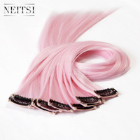 Light pink hair extensions price comparison buy cheapest light synthetic hair extensions synthetic hair clip in hair neitsi 18inch light pinkf01 pmusecretfo Images