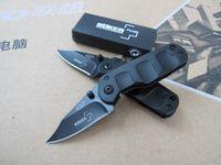 Wholesale Aluminum Oxides - New Boker B18 Small pocket folding blade knife 420C 54HRC Black oxide finish blade aluminum Handle outdoor Tactical knife gift knives