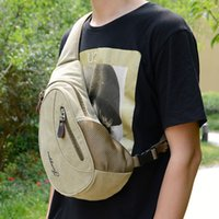 Wholesale Military Canvas Messenger Bag - Mens Messenger Bag Casual Outdoor Travel Rucksack Military Shoulder Bags Sport Chest Bags Small Crossbody Bags C034