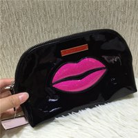 Wholesale Handbag Lips - VS Portable Black Lip Cosmetic Bag Storage bag Waterproof Handbag Cosmetics Collection Make-Up Bags Limited Edition