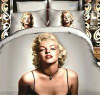 Wholesale Fashion Duvet Cover Set - Free Shipping Fashion Sexy Marilyn Monroe print 3d duvet cover bedding set