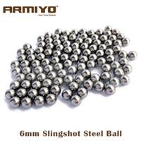 Wholesale hunting slingshot arrow - Armiyo 200pcs lot 6mm 7mm 8mm Diameter Slingshot Sling Shot Stainless Steel Balls For Hunting Shooting Compound Bow Arrow