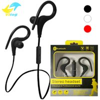 Wholesale Over Ear Headsets Mic - bt1 BT-1 Tour Earphone Bluetooth Sport Earhook Earbuds Stereo Over-Ear Wireless Neckband Headset Headphone with Mic for Universal Cellphone