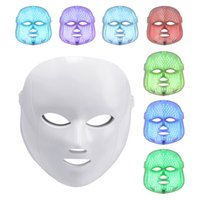 Wholesale Colour Therapy - 2017 Portable Acne treatment 7 colours face led mask led light therapy skin tightening mask home use DHL Free Shipping