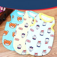 Wholesale Cool Cartoon Shirts - 2016 New Cool Summer Pet Dog Clothes Fashion Cartoon Cotton Vest Shirt Clothes for Dogs Pet clothing Free Shipping WA0717