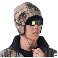 Wholesale Camouflage Hunting Hat - Wholesale-Browning fleece cap ear protector cap hunting cap Camouflage Hat Free Shipping