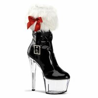 Wholesale Plastic Bow Charms - Sales champion Bow low simulation paper tube short boots Nightclub lap-dancing 17-18 cm super high heels with big yards of shoes