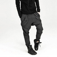 ingrosso pantaloni felpati da culo largo-All'ingrosso-Nuovo 2016 uomini cavallo basso cavallo: pantaloni sportivi hip-hop pantaloni Harem pantaloni jogging all'aperto larghi pantaloni a bandoli affusolati